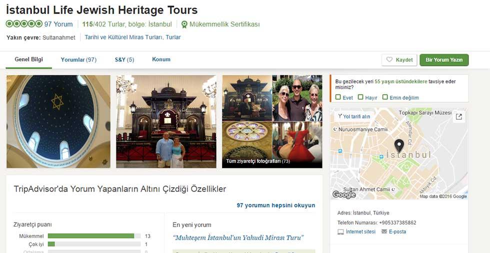 Testimonials Istanbul Jewish Heritage Tours We Chose